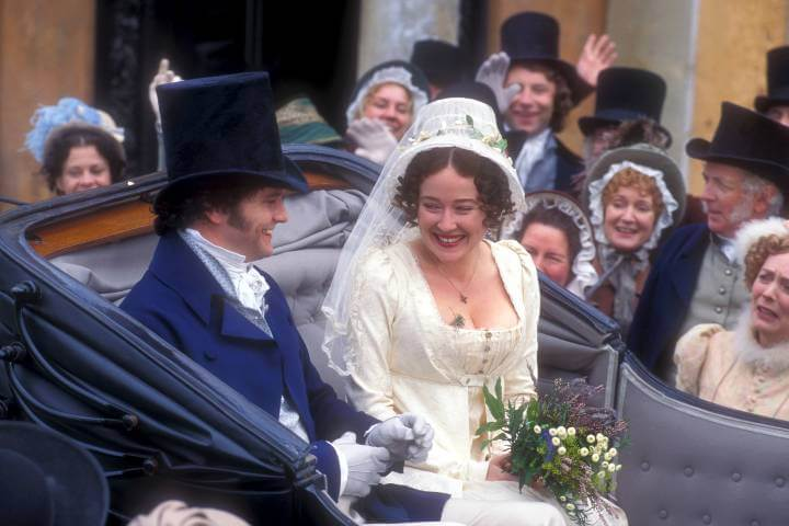 Colin Firth and Jennifer Ehle in Pride and Prejudice; iconic couples on BritBox