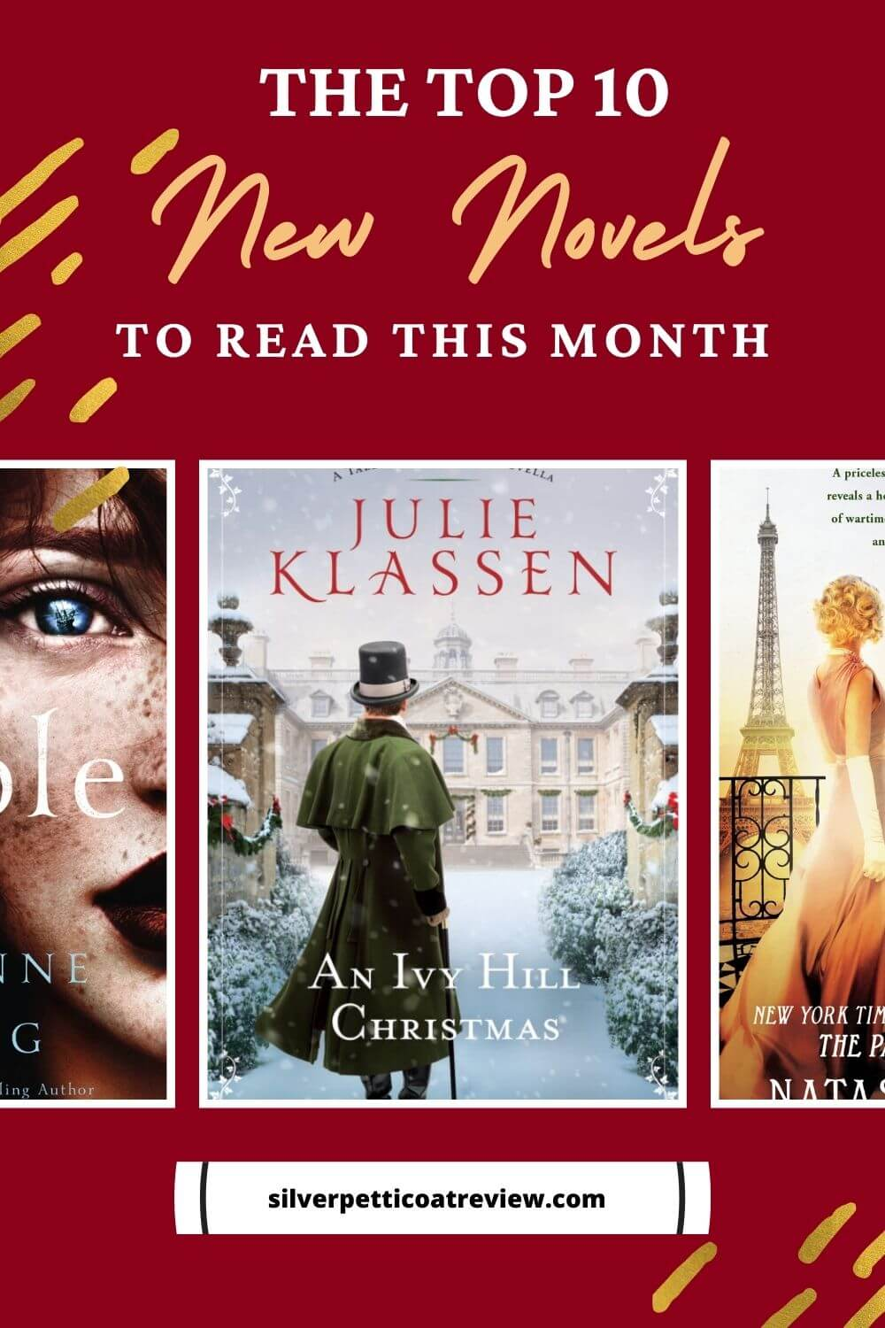 The Top Ten New Novels To Read This Month Pinterest Image