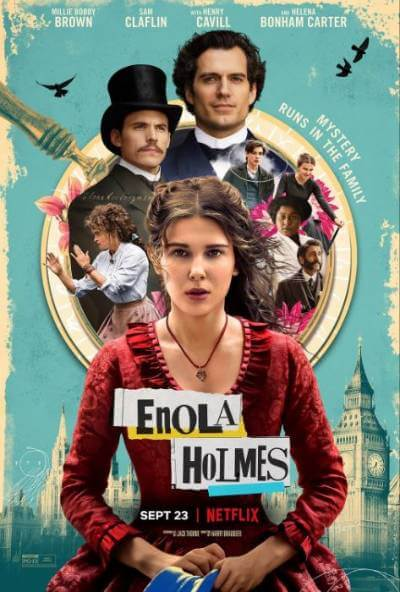Enola Holmes poster; best new movies and shows