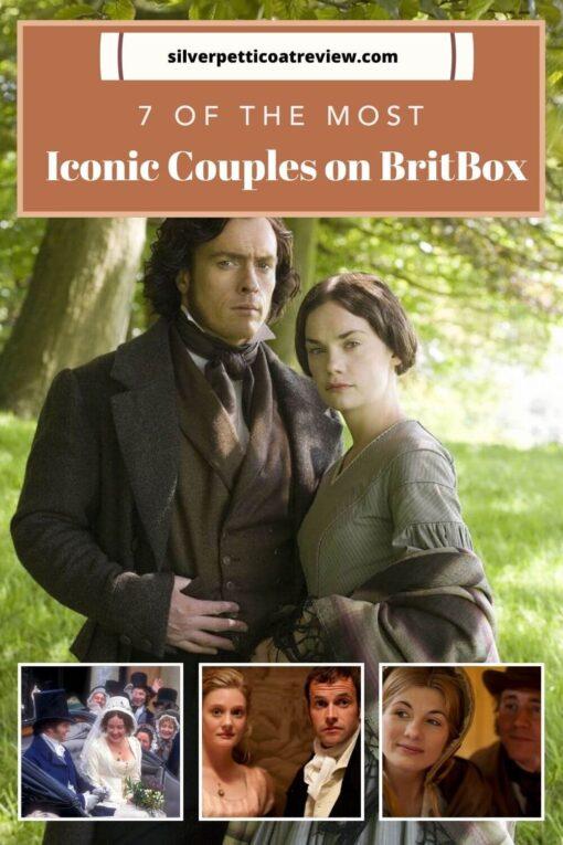 iconic couples on BritBox - Pinterest image