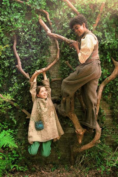 The Secret Garden 2020 promo image with Mary and Dickon characters
