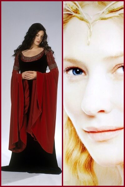 Galadriel and Arwen from Lord of the Rings - A Literary Halloween: 20 Female Book Characters to Dress Up As!