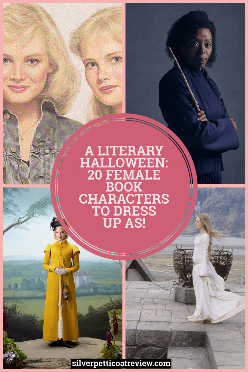 A Literary Halloween: 20 Female Book Characters to Dress Up As! Pinterest Image