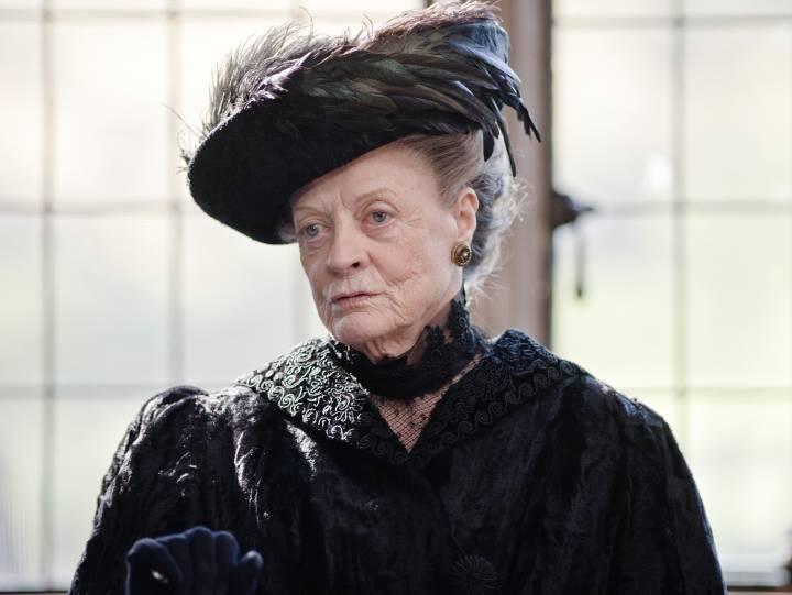 Maggie Smith in Downton Abbey - BritBox promo image