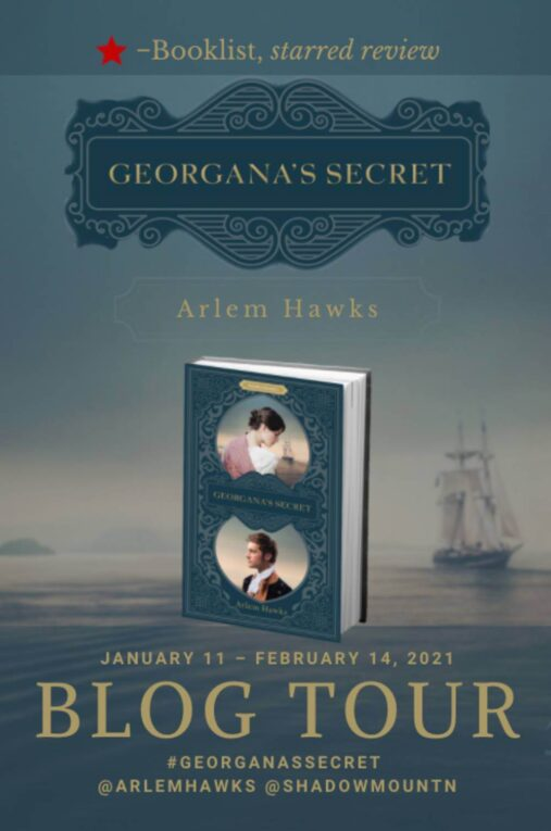 Georgana's Secret Blog Tour image with book cover