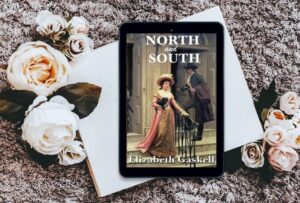 north and south book cover with flowers around the book