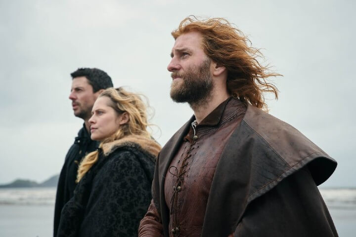 Steven Cree as Gallowglass; with Diana and Matthew