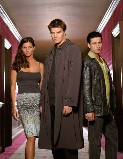 Angel promo image; urban fantasy TV show