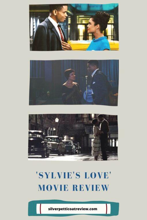 Sylvie's Love Movie Review; pinterest image