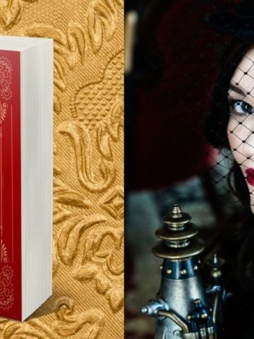 Elizabeth Chatsworth Interview: picture of author and The Brass Queen book cover
