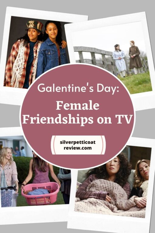 Galentine's Day: female friendships on TV pinterest image
