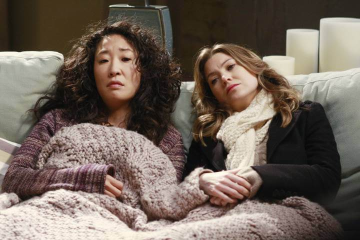 Christina and Meredith in Grey's Anatomy
