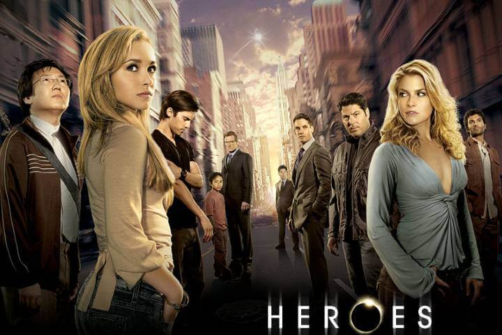 Heroes TV show poster with cast