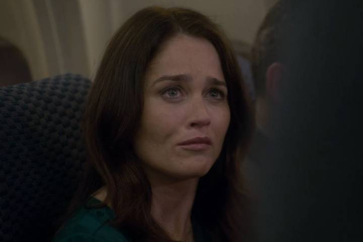 Lisbon trying not to cry in The Mentalist