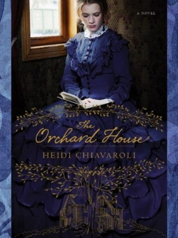 The orchard house book cover with victorian background