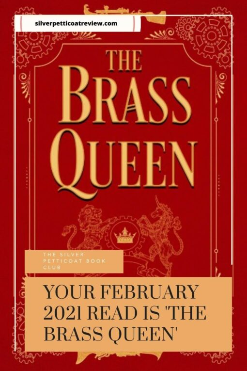 The Silver Petticoat Book Club February 2021 read; pinterest image