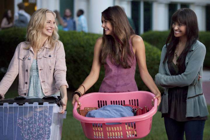 Caroline, Elena, and Bonnie in The Vampire Diaries