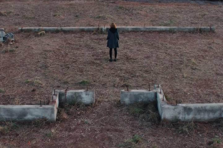 Wanda alone in empty lot