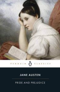 Pride and Prejudice Book Cover; the April 2021 book club pick for The Silver Petticoat Book Club