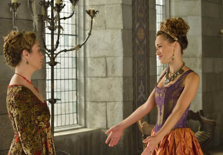 Megan Follows and Rose Williams in Reign