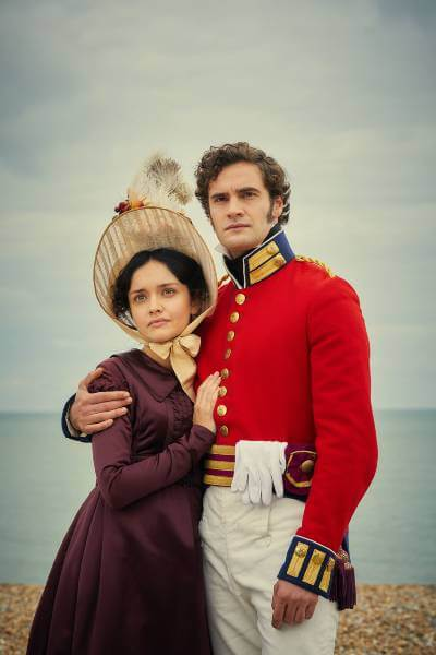 Vanity Fair promo image; the sea is behind the two characters