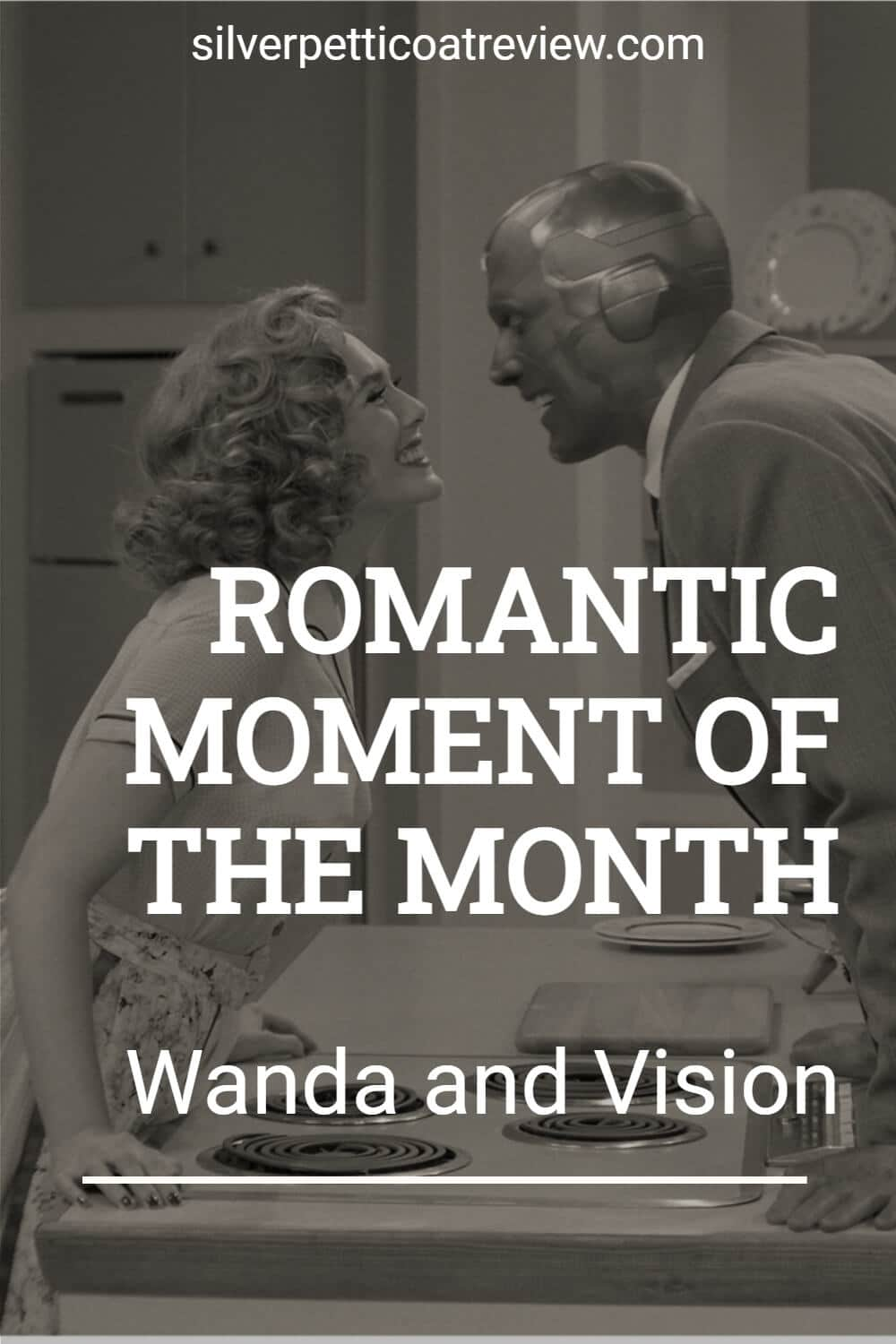Romantic Moment of the Month: Wanda and Vision; Pinterest image