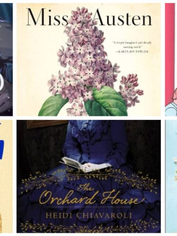 March Book Reviews of the Month featured image collage of book covers including Miss Austen by Gill Hornby