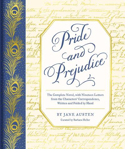 Pride and Prejudice with letters book cover; the April 2021 book club pick for The Silver Petticoat Book Club