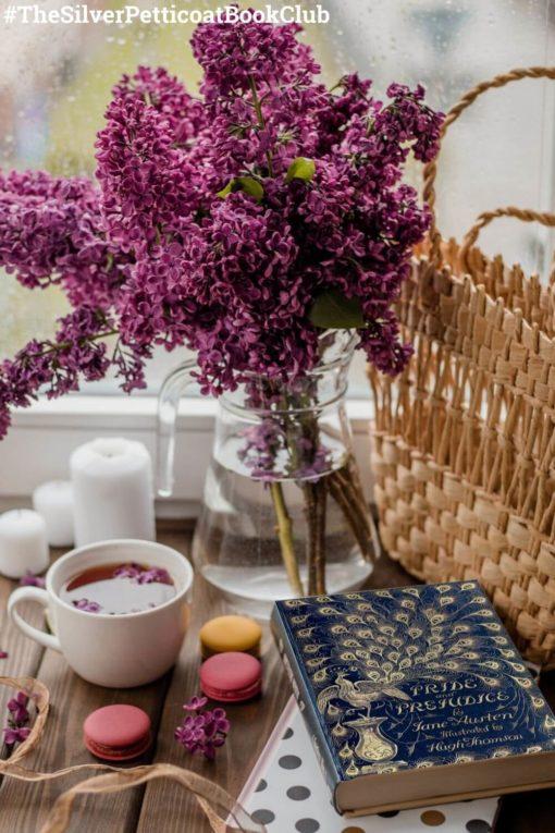 The Silver Petticoat Book Club Pick: The April 2021 Read is Pride and Prejudice; Pinterest image