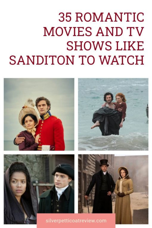 35 Romantic Movies and TV Shows Like Sanditon to Watch; pinterest image
