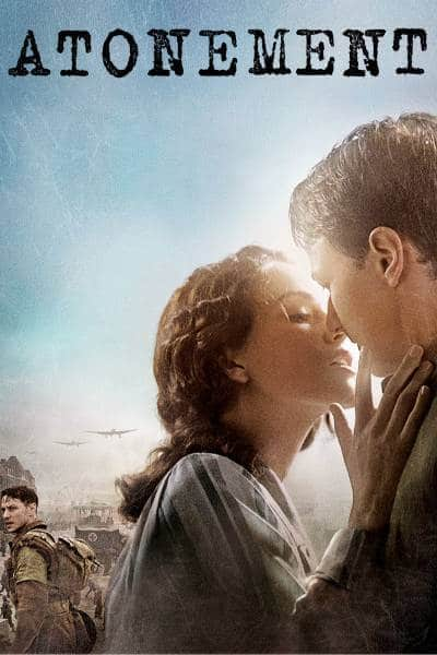 Atonement poster with Keira Knightley and James McAvoy