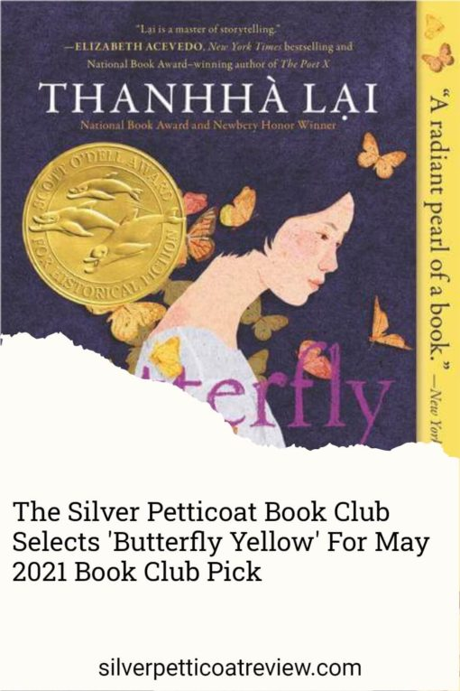 The Silver Petticoat Book Club Selects 'Butterfly Yellow' For May 2021 Book Club Pick: Pinterest image