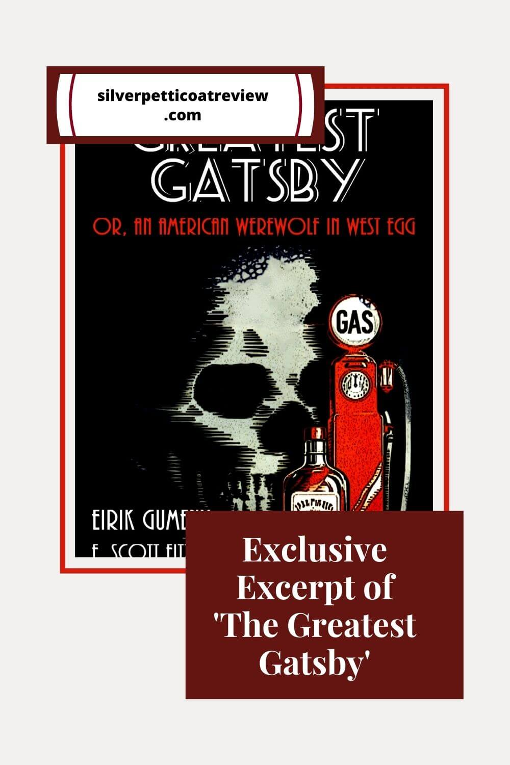 Exclusive Excerpt of The Greatest Gatsby; Pinterest image with book cover