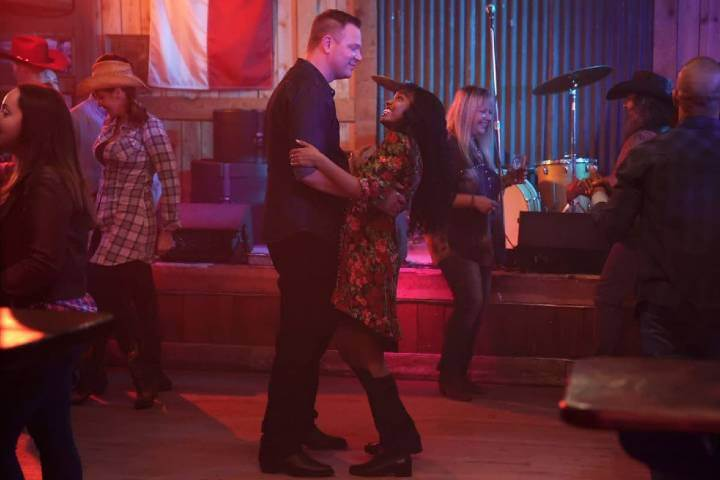 Grace and Judd dancing in 911 Lone Star