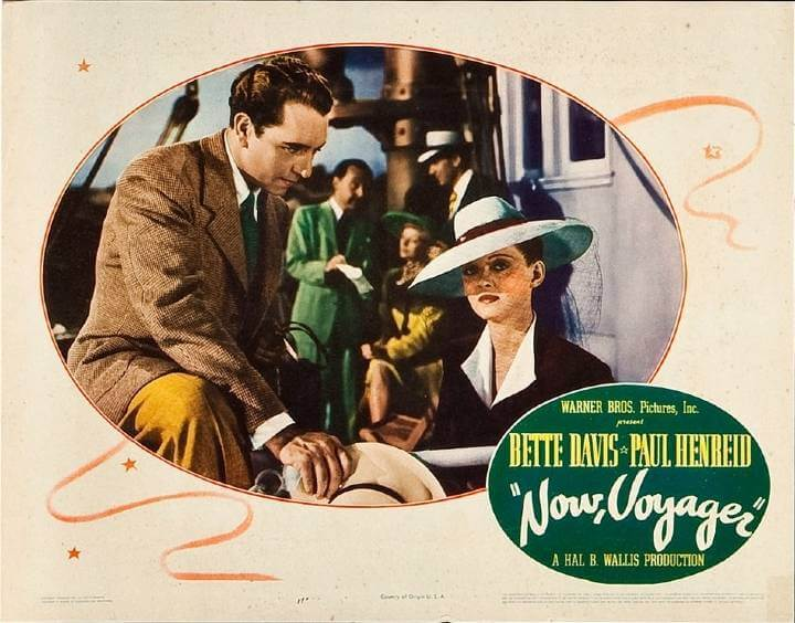 Now, Voyager Lobby Card featuring Bette Davis and Paul Henreid on a boat.