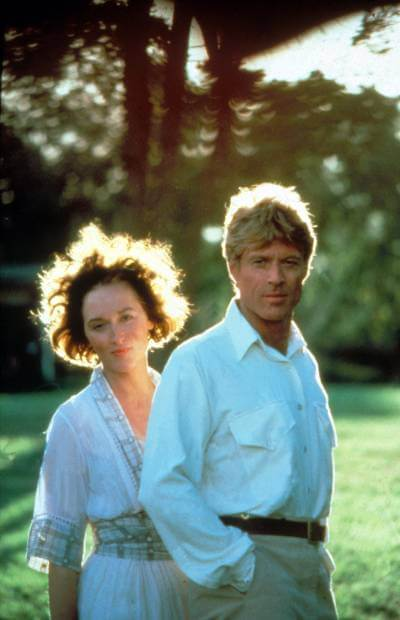 Out of Africa Promo photo with Meryl Streep and Robert Redford