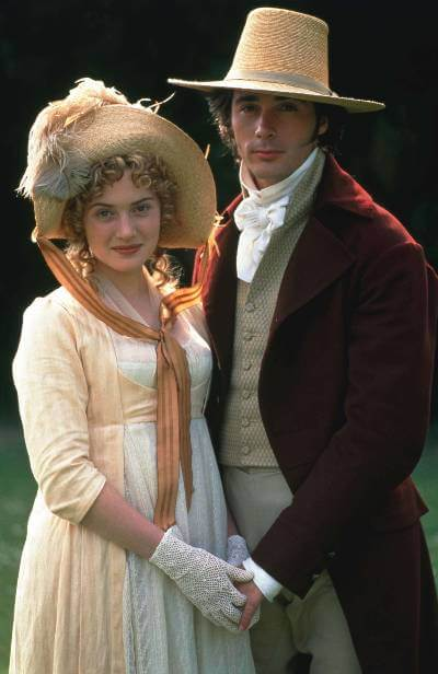 Sense and Sensibility 1995 promo image with Kate Winslet and Greg Wise.