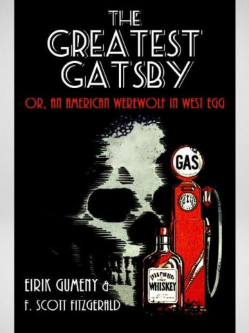 The Greatest Gatsby book cover on gray background