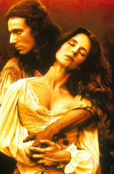 The Last of the Mohicans Promotional Art with Daniel Day Lewis and Madeleine Stowe