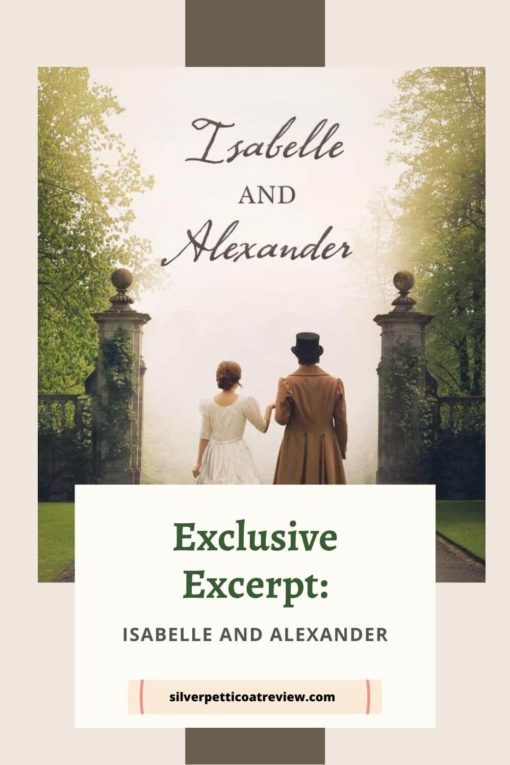 Isabelle and Alexander Exclusive Excerpt Pinterest image; includes book cover