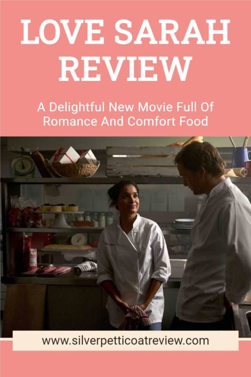 Love Sarah Review Pinterest image with Shelley Conn and Rupert Penry-Jones