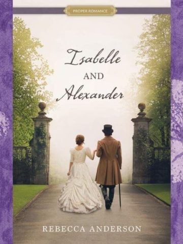 Featured image for Isabelle and Alexander excerpt; Includes book cover and a purple Victorian background