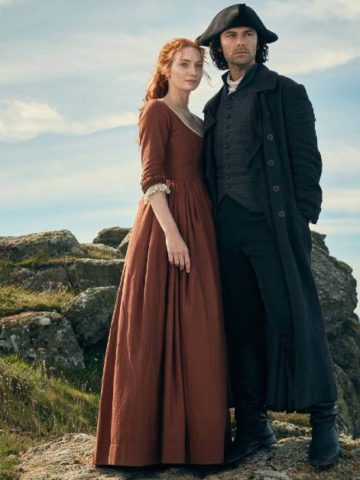 Poldark Filming Locations featured image with Ross and Demelza
