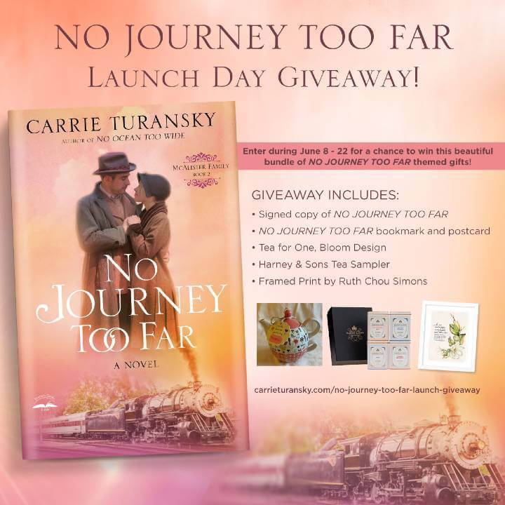 No Journey Too Far Launch Giveaway Photo. The giveaway runs from June 8 to June 22, 2021