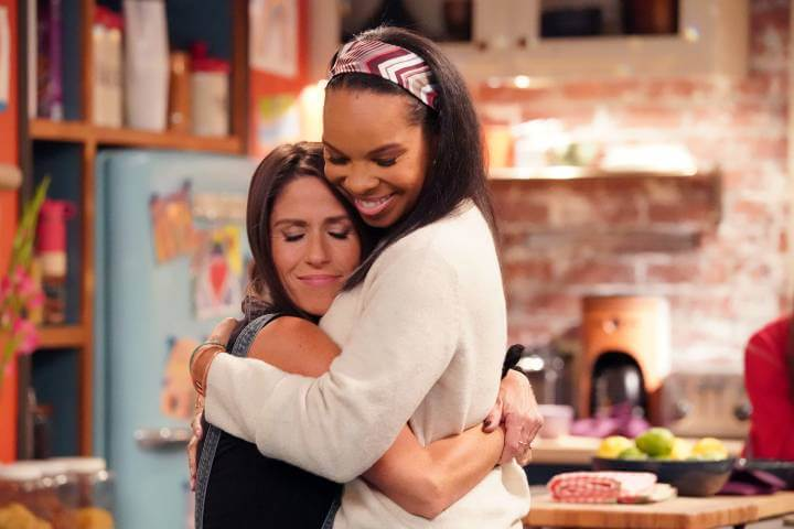 Punky and Cherie hugging in Punky Brewster Revival Series