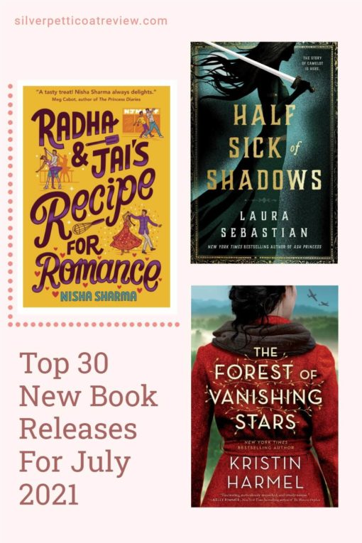 Top 30 New Book Releases For July 2021; pinterest image