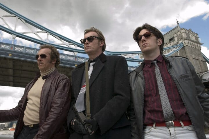 Dean Andrews (DS Ray Carling), Philip Glenister (DCI Gene Hunt), and Marshall Lancaster (DC  Chris Skelton) in Ashes to Ashes