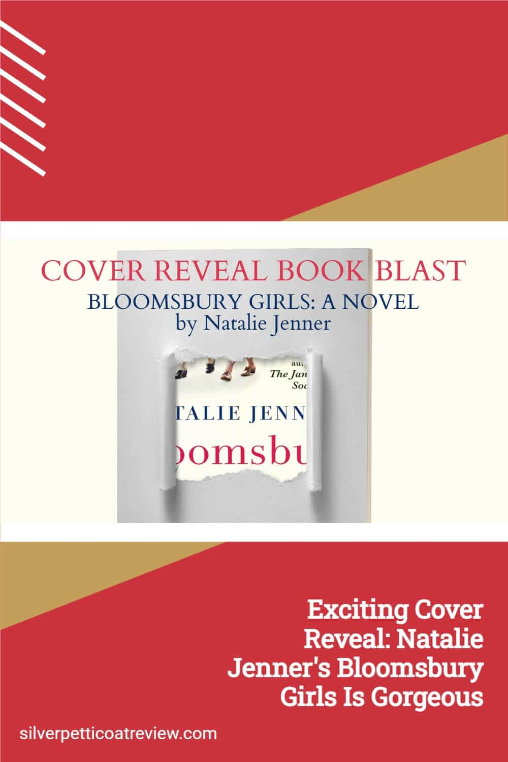 Exciting Cover Reveal: Natalie Jenner's Bloomsbury Girls is Gorgeous; Pinterest image
