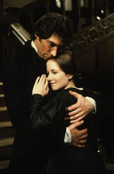 Mr. Rochester and Jane Eyre in the 1983 adaptation