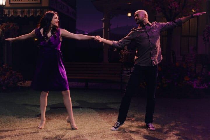 Melissa and Josh in Schmigadoon dancing in finale